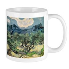 Olive Trees with the Alpilles Small Mugs