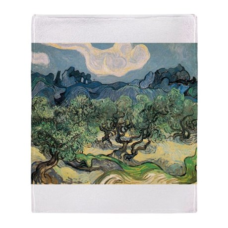 Olive Trees with the Alpilles Throw Blanket