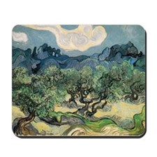 Olive Trees with the Alpilles Mousepad