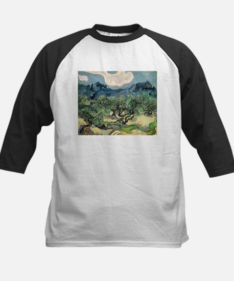 Olive Trees with the Alpilles Kids Baseball Jersey