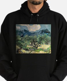 Olive Trees with the Alpilles Hoodie (dark)