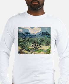 Olive Trees with the Alpilles Long Sleeve T-Shirt