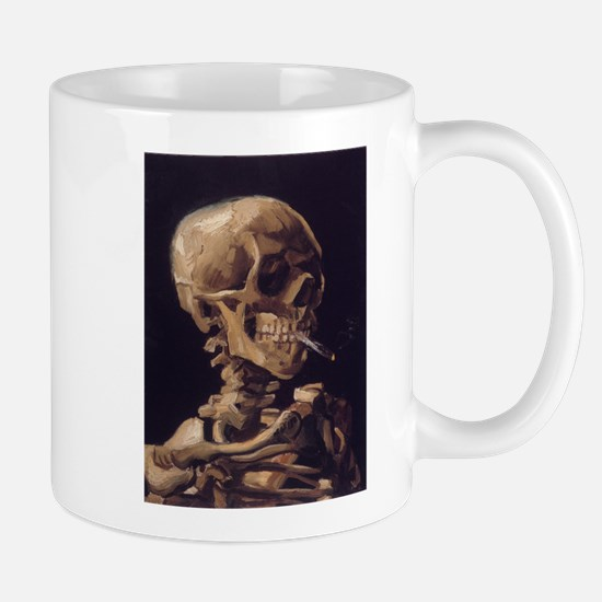 Skull with a Burning Cigarett Mug