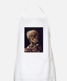 Skull with a Burning Cigarett Apron