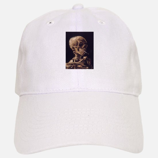 Skull with a Burning Cigarett Baseball Baseball Cap
