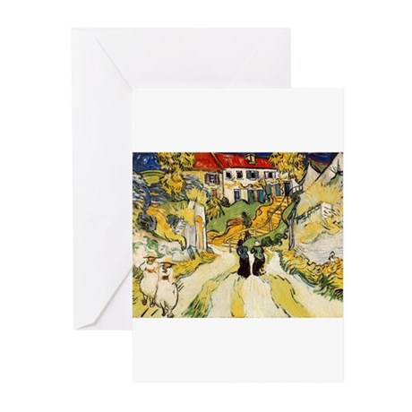 Stairway at Auvers Greeting Cards (Pk of 10)