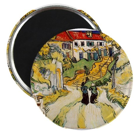"""Stairway at Auvers 2.25"""" Magnet (10 pack)"""