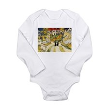 Stairway at Auvers Long Sleeve Infant Bodysuit