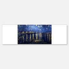 Starry Night Over the Rhone Bumper Bumper Sticker
