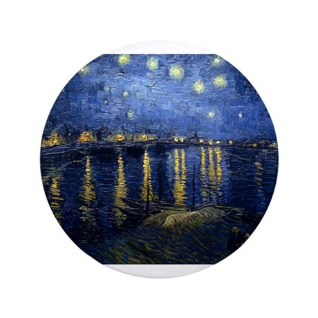"""Starry Night Over the Rhone 3.5"""" Button"""