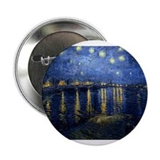 """Starry Night Over the Rhone 2.25"""" Button"""