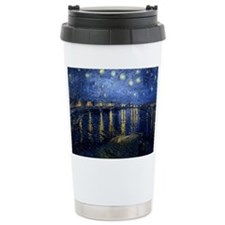 Starry Night Over the Rhone Thermos Mug