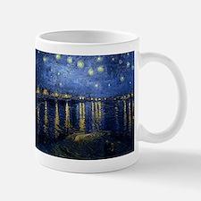 Starry Night Over the Rhone Small Mugs