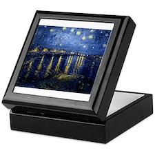 Starry Night Over the Rhone Keepsake Box