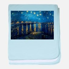 Starry Night Over the Rhone baby blanket