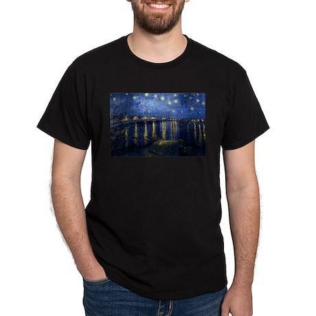 Starry Night Over the Rhone Dark T-Shirt