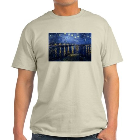 Starry Night Over the Rhone Light T-Shirt