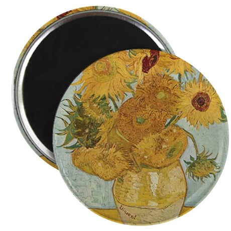 "Sunflowers 2.25"" Magnet (100 pack)"