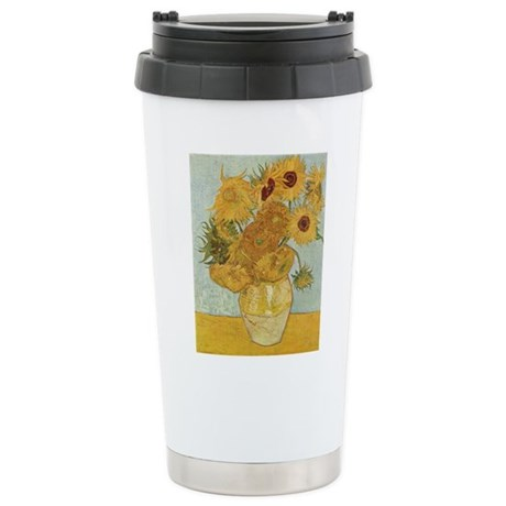 Sunflowers Stainless Steel Travel Mug
