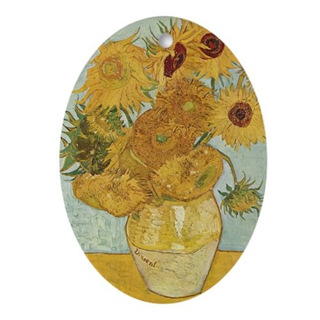 Sunflowers Ornament (Oval)