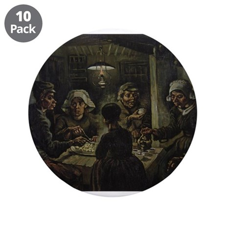 """The Potato Eaters 3.5"""" Button (10 pack)"""