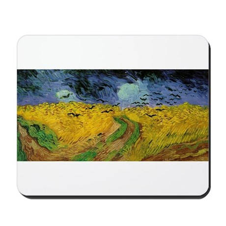 Wheat Field Under Threatening Mousepad