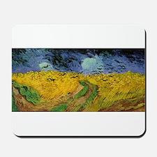 Wheat Field Under Threatening Mousepad
