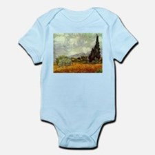 Wheat Field with Cypresses Infant Bodysuit