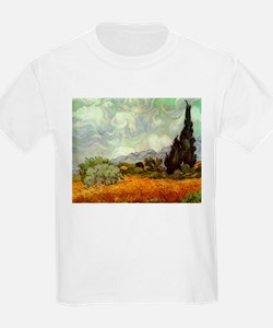Wheat Field with Cypresses T-Shirt