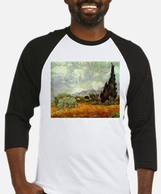 Wheat Field with Cypresses Baseball Jersey