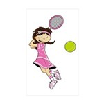 Cute Tennis Girl Sticker (10 Pk)