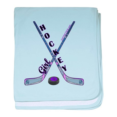 HOCKEY GIRL baby blanket
