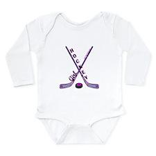 HOCKEY GIRL Long Sleeve Infant Bodysuit