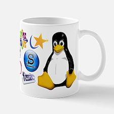 Tasse Mug Linux Tux Many Distro Mugs