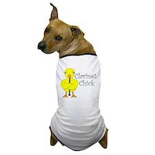 Clarinet Chick Text Dog T-Shirt