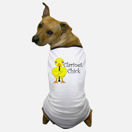 Clarinet Chick Text Dog T-Shirt