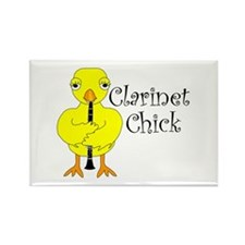 Clarinet Chick Text Rectangle Magnet