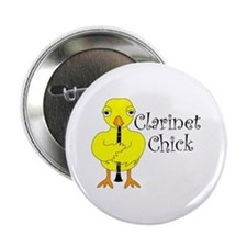 "Clarinet Chick Text 2.25"" Button"