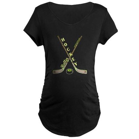 ROLLER HOCKEY Maternity Dark T-Shirt