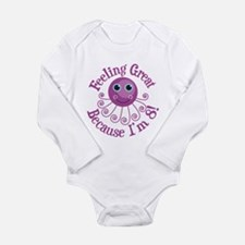 8th Birthday Long Sleeve Infant Bodysuit