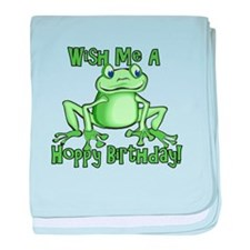 Cute Hoppy Birthday baby blanket