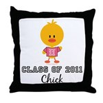 Senior 2011 Chick Throw Pillow