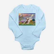 Cloud Angel/Chinese Crested Long Sleeve Infant Bod