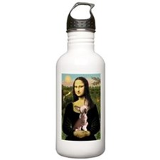 Mona Lisa Chinese Crested Water Bottle