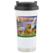 Cloud Angel & Chow Chow Travel Mug