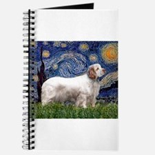 Starry Night Clumber Spaniel Journal