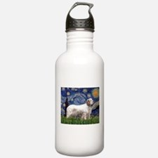 Starry Night Clumber Spaniel Water Bottle