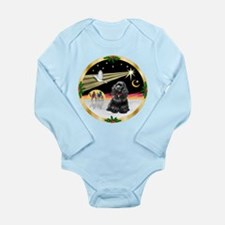 XmasDove/Cocker (black) Long Sleeve Infant Bodysui