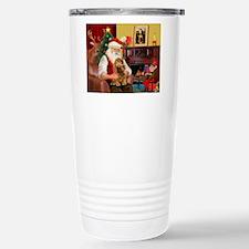 Santa's Cocker (bn) Travel Mug