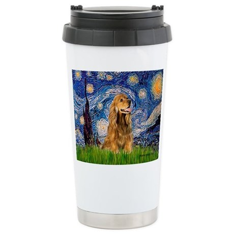Starry Night/Cocker(#7) Stainless Steel Travel Mug